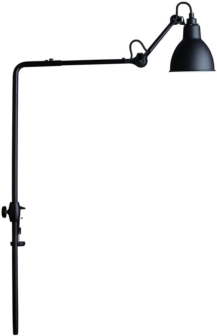Leuchten - Tischleuchten - N°226 Lampe für Bücherregale / höhenverstellbar - Klemmleuchte - DCW éditions - Lampenschirm schwarz  / Halterung und Arm schwarz - Stahl