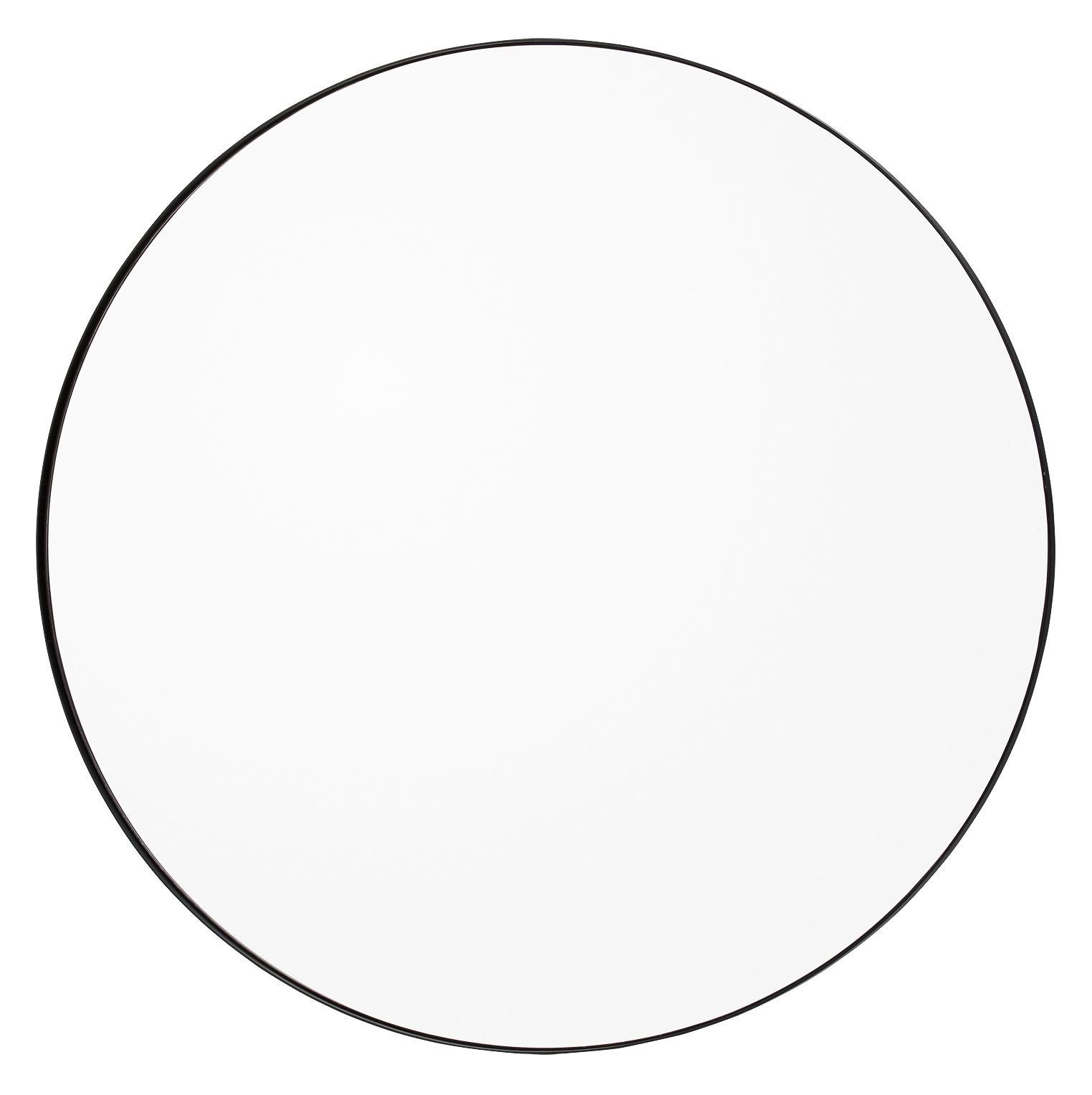 Déco - Miroirs - Miroir mural Circum Large / Ø 110 cm - AYTM - Clair / Cadre noir - MDF peint, Verre