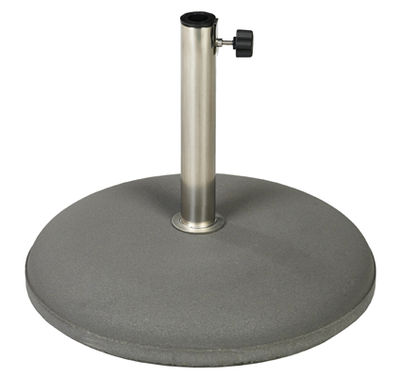 Outdoor - Parasols - Parasol base - Concrete - Ø 49 cm by Vlaemynck - Anthracite - Concrete, Stainless steel