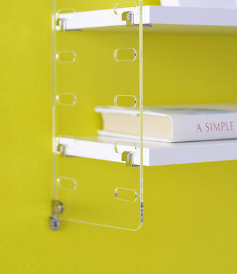 string plex pocket regal l 60 cm x h 50 cm wei seitenelemente transparent by string. Black Bedroom Furniture Sets. Home Design Ideas