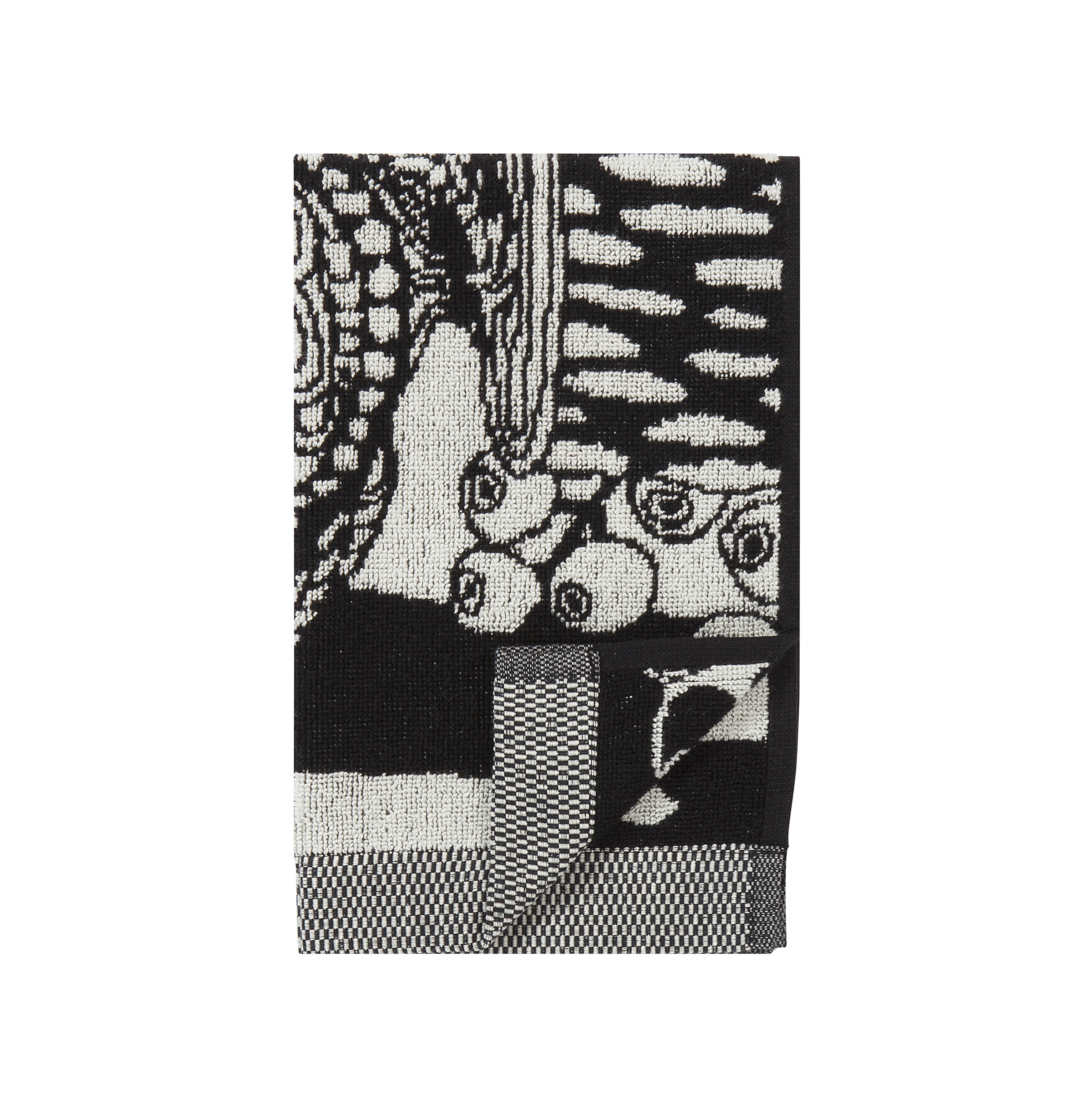 Accessoires - Accessoires salle de bains - Serviette de toilette Veljekset / 30 x 50 cm - Marimekko - Veljekset / Noir & blanc - Coton