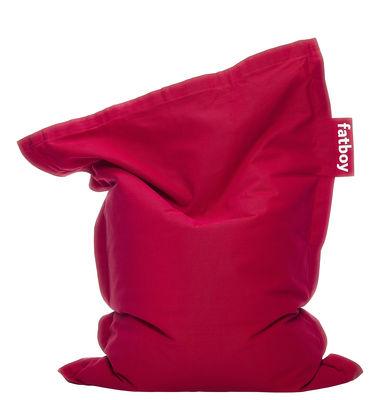 Möbel - Möbel für Kinder - Junior Stonewashed Sitzkissen / Kinder-Modell - Fatboy - Rot - Baumwolle
