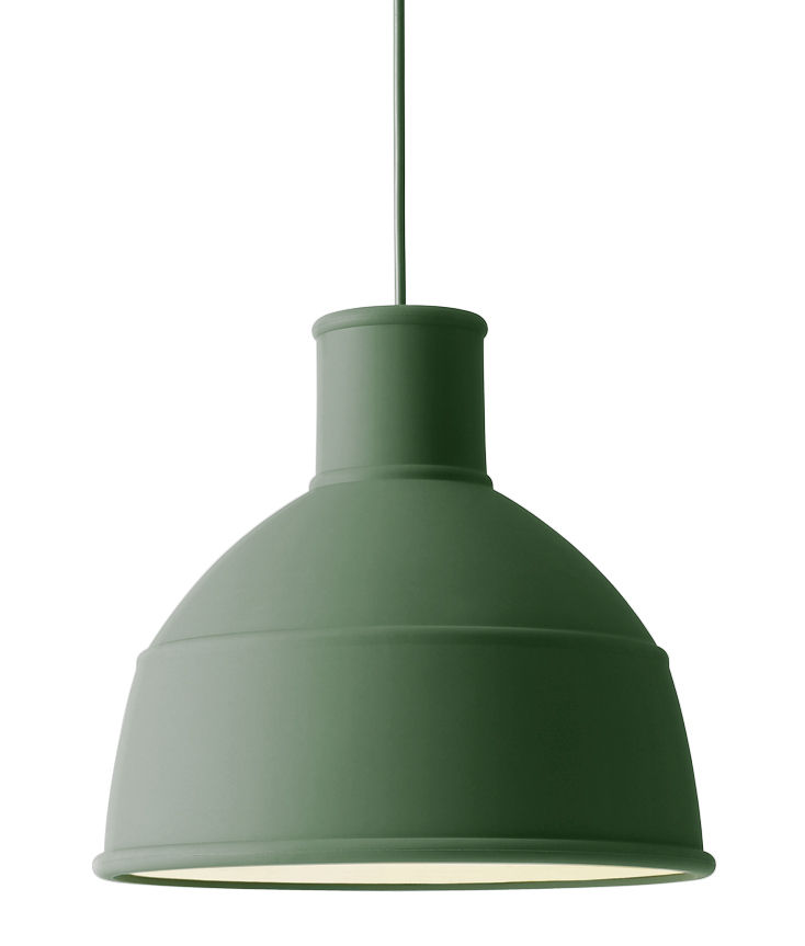 Luminaire - Suspensions - Suspension Unfold / en silicone - Muuto - Vert - Silicone