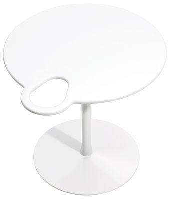 Table basse Grip - Offecct blanc en métal/matériau composite