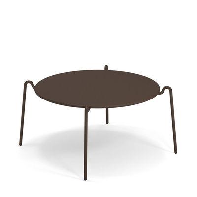 Table basse Rio R50 / Ø 104 cm - Métal - Emu marron/métal en métal