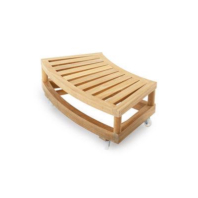 Mobilier - Tables basses - Table basse à roulettes / Pour canapé rond Pevero - Unopiu - Teck - Teck