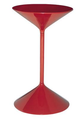 Table d'appoint Tempo - Zanotta rouge laqué en métal