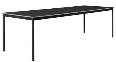 Table rectangulaire Base /Plateau bois - 250 x 90 cm - Muuto noir en bois