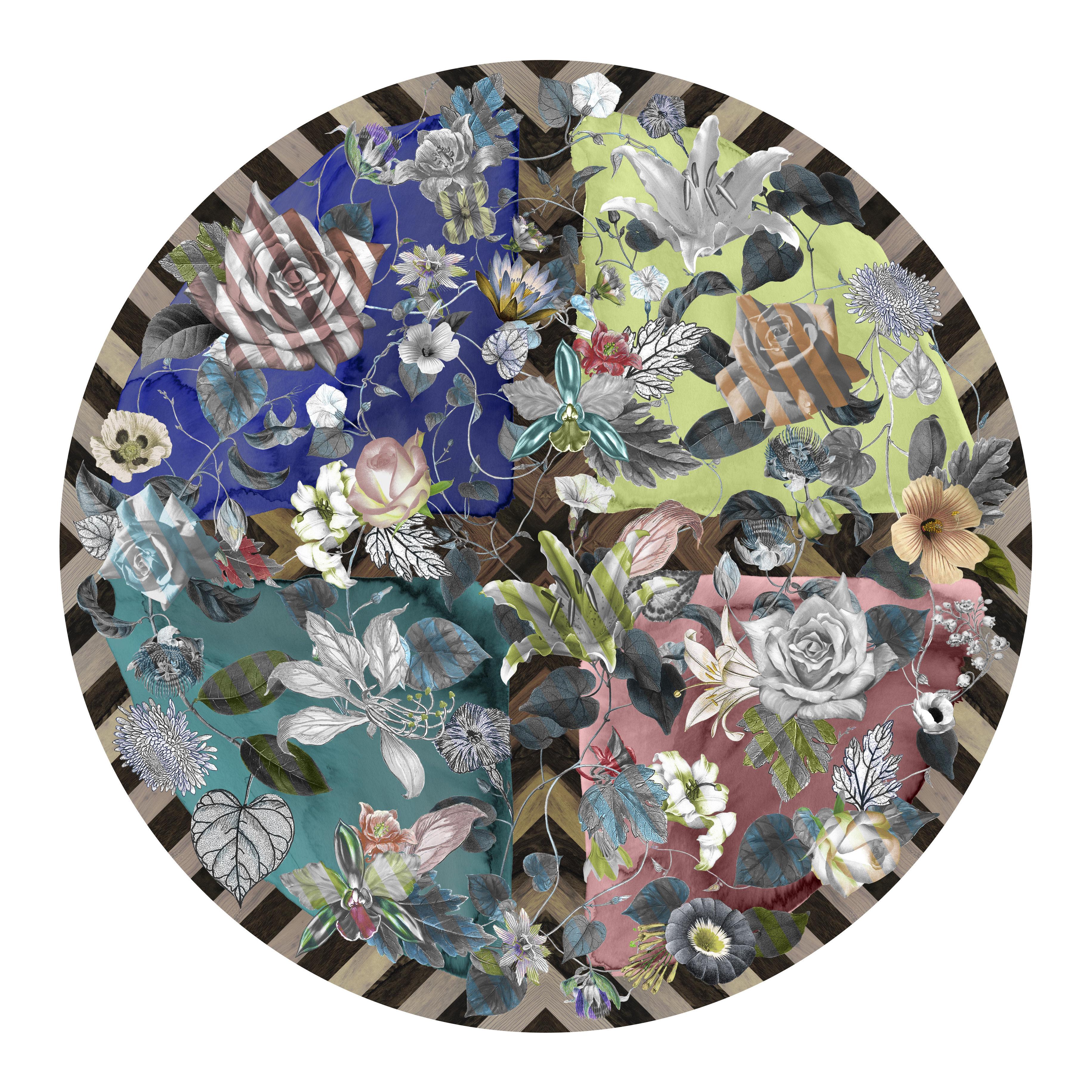 Mobilier - Tapis - Tapis Malmaison Guimauve / Ø 250 cm - Moooi Carpets - Multicolore - Polyamide