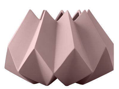 Vase Folded / Argile - Ø 22 x H 15 cm - Menu taupe en céramique