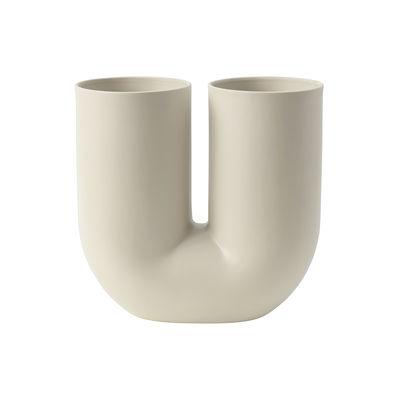 Déco - Vases - Vase Kink / Céramique - Muuto - Sable - Céramique