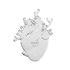 Vase Love in Bloom / Coeur humain - Verre / H 24 cm - Seletti