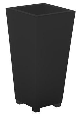 Image of Vaso per fiori Kabin High 70 di Serralunga - Nero - Materiale plastico