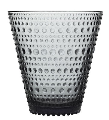 Arts de la table - Verres  - Verre Kastehelmi / Lot de 2 verres - 30 cl - Iittala - Gris - Verre pressé