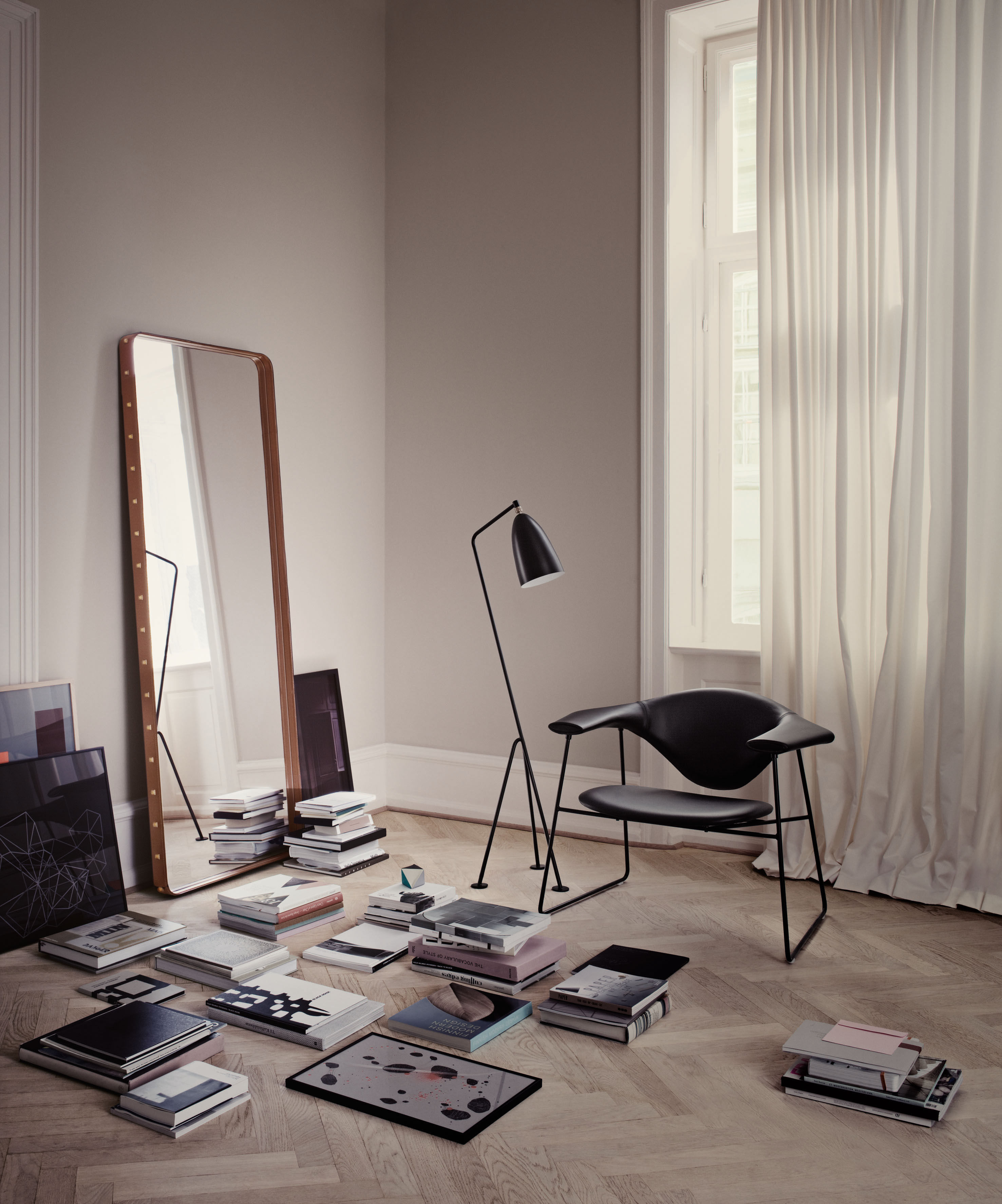 Wall Mirror Adnet By Gubi Brown Made In Design Uk