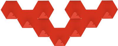 Möbel - Garderoben und Kleiderhaken - Simplex Wandhaken 3-er Set - Tolix - Rot - Lackierter recycelter Stahl