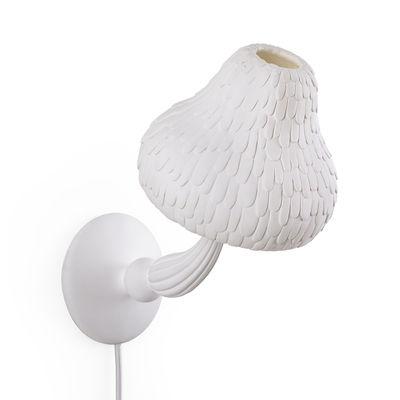 Mushroom Wandleuchte mit Stromkabel / Pilze - Kunstharz - Seletti - Weiß