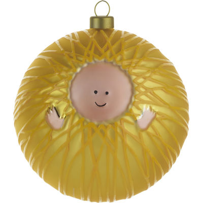 Decoration - Home Accessories - Gesù Bambino Bauble - Baby Jesus by A di Alessi - Baby Jesus - Yellow - Mouth blown glass