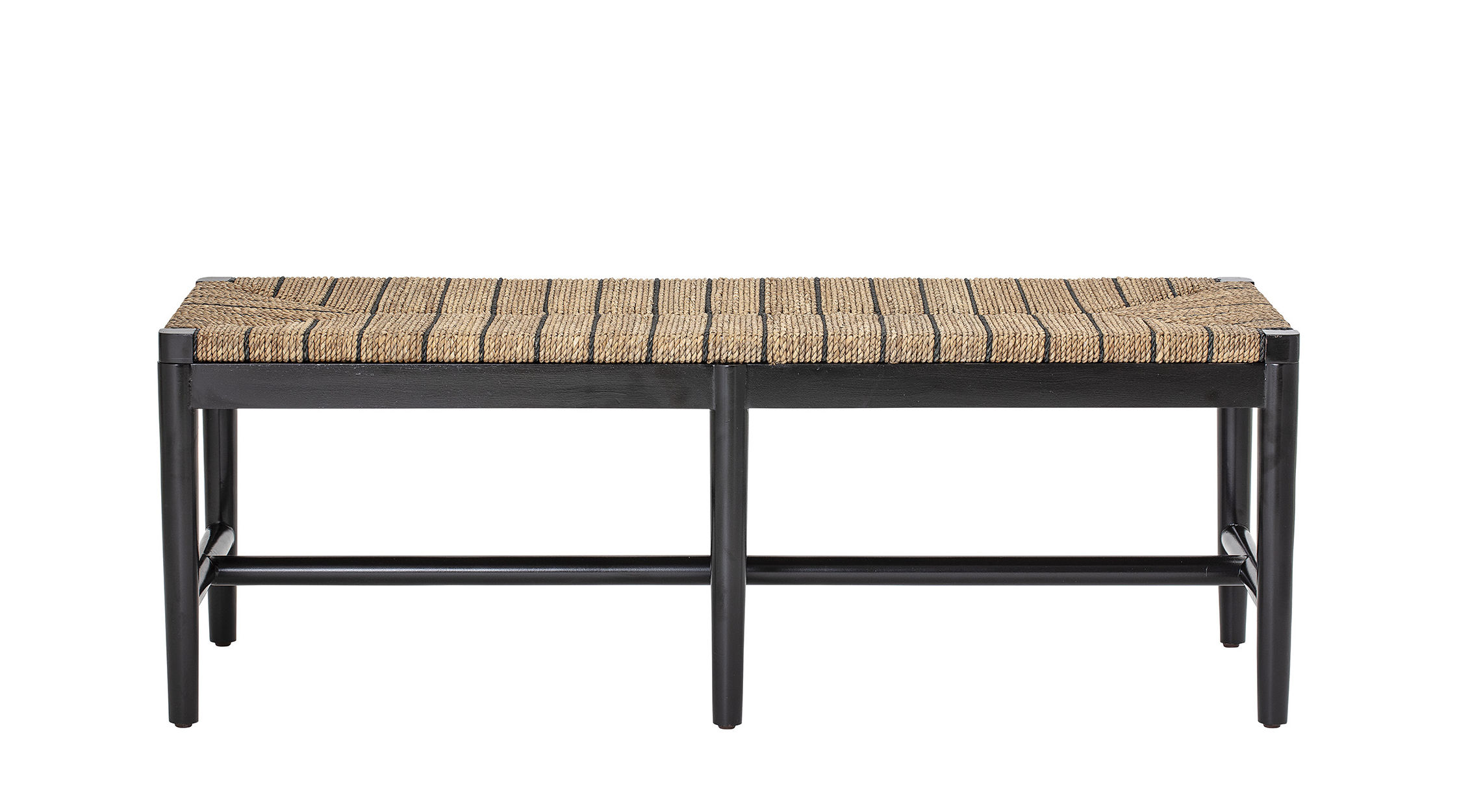 Furniture - Benches - Luce Bench - / Seagrass - L 124 cm by Bloomingville - Natural seagrass - Seagrass, Wood