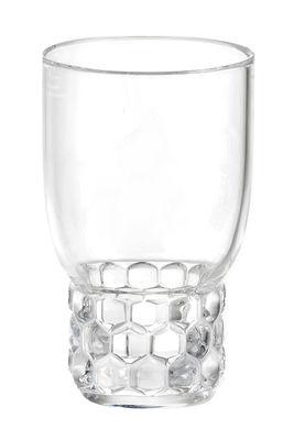 Bicchiere Jellies Family - / Small - H 13 cm di Kartell - Trasparente - Materiale plastico