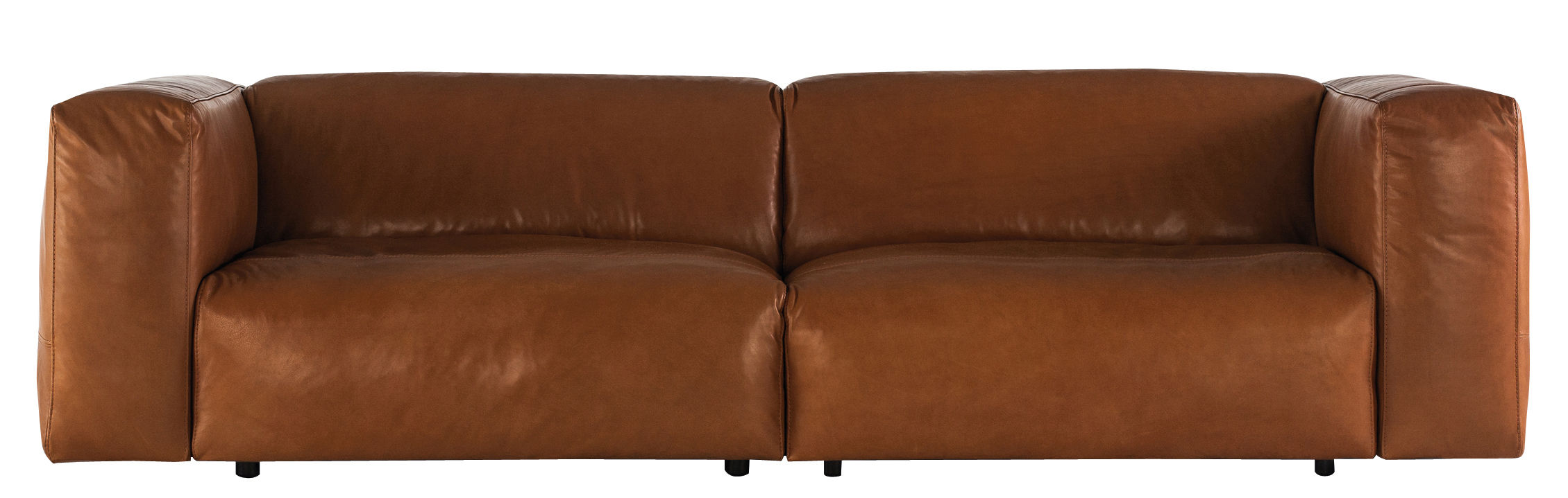 canapé droit cloud / 2 places - l 220 cm cuir marron - prostoria ltd