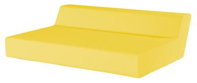 Canapé droit Matrass Seat 150 2 places L 150 x H 20 cm Quinze Milan jaune en matière plastique