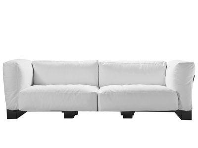 Canapé droit Pop Duo / structure noire - L 255 cm - Kartell blanc en tissu
