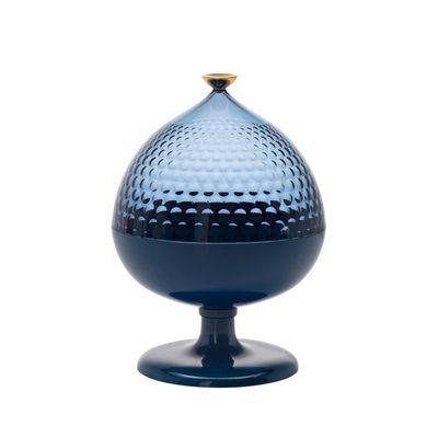 Cuisine - Sucriers, crémiers - Centre de table Pumo / Ø 21 x H 29 cm - Kartell - Bleu / Bleu clair - Technopolymère