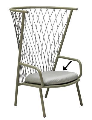Coussin d'assise / pour fauteuils bas Nef - Emu gris clair en tissu