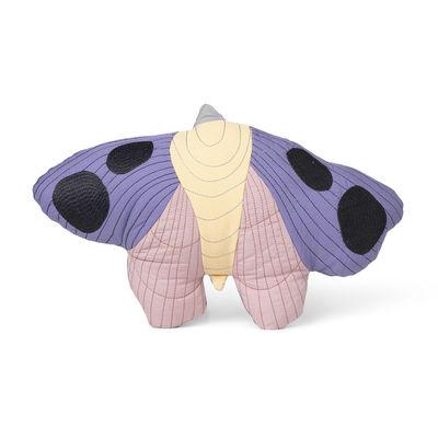 Interni - Per bambini - Cuscino Moth - / Tessuto trapuntato - 47 x 32 cm di Ferm Living - Multicolore - Cotone biologico