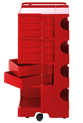 Desserte Boby / H 94 cm - 8 tiroirs - B-LINE rouge en matière plastique