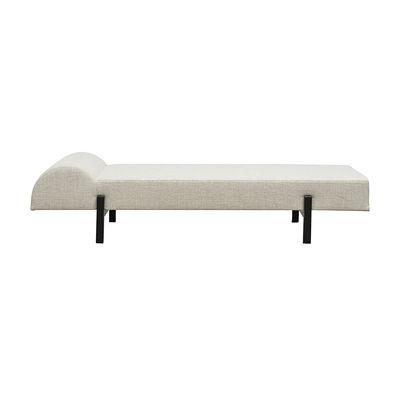 Dormeuse Diva / 180 x 70 cm - Tissu & pieds bois - House Doctor blanc/beige en tissu