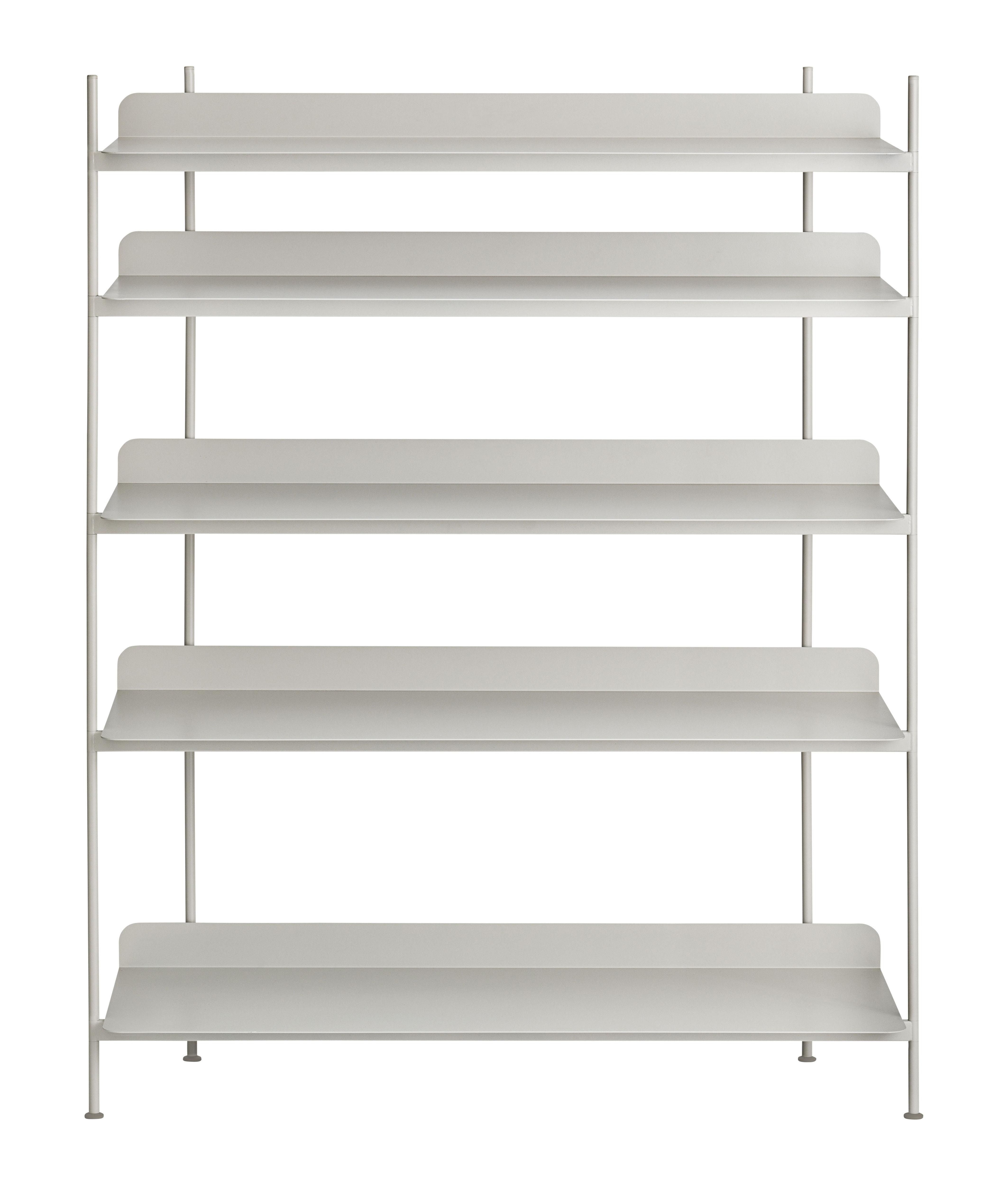 Mobilier - Etagères & bibliothèques - Etagère Compile / Métal - L 120 cm x H 136,6 cm - Muuto - Gris - Acier laqué