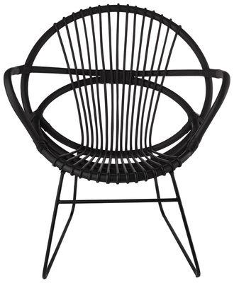 Chaise Singapore - Pols Potten noir en rotin & fibres