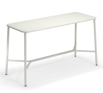Möbel - Stehtische und Bars - Yard hoher Tisch / Metall - 180 x 70 cm x H 105 cm - Emu - Weiß - klarlackbeschichtetes Aluminium
