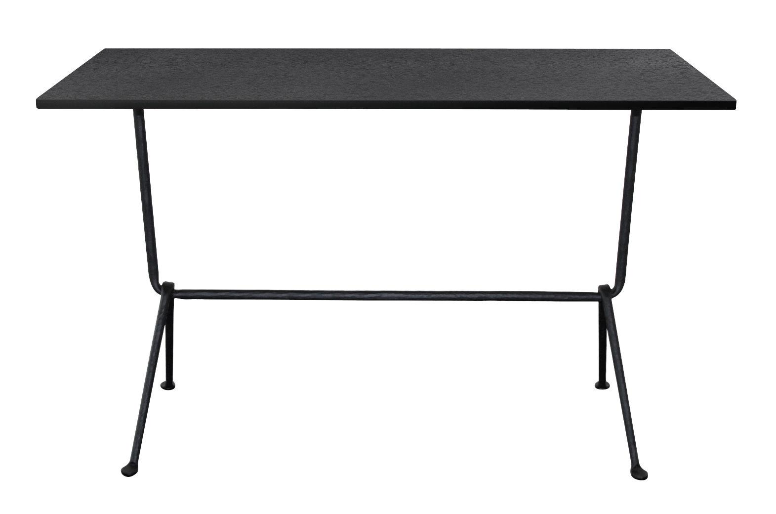 Möbel - Konsole - Officina Konsole / L 120 cm - Tischplatte aus Schiefer - Magis - Schiefer schwarz / Tischbeine schwarz - Lackiertes Schmiedeeisen, Schiefer