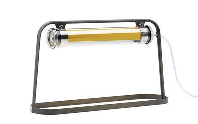 Luminaire - Lampes de table - Lampe de table Astrup LED / L 60 cm - SAMMODE STUDIO - Noir / Laiton - Aluminium laqué, Polycarbonate
