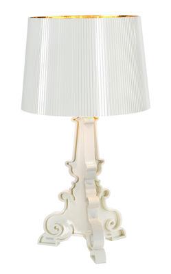 Lampe de table Bourgie Bianca / H 68 à 78 cm - Kartell blanc,or en matière plastique
