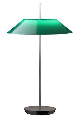 Lampe de table Mayfair LED / H 52 cm - Vibia vert,noir brillant en métal