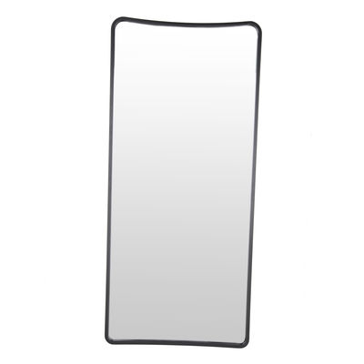 Decoration - Mirrors - Ellipse Mirror with base - / H 180 cm - Oak / Free-standing by Maison Sarah Lavoine - Black oak - Glass, Tinted oak