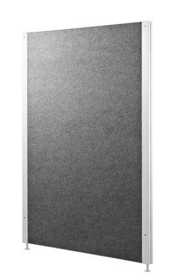 Arredamento - Raccoglitori - Pannello anteriore String Works - / Per mobiletto di String Furniture - Feltro grigio - Acciaio laccato, Feltro