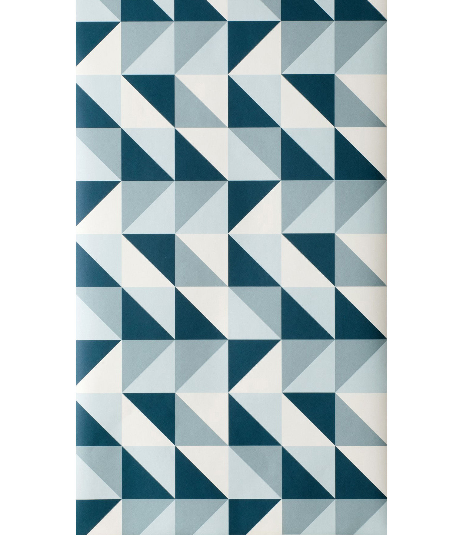 Papier Peint Remix Ferm Living Bleu Petrole Bleu Clair Blanc
