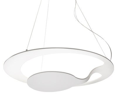Lighting - Pendant Lighting - Glu Pendant by Fabbian - White - Painted aluminium