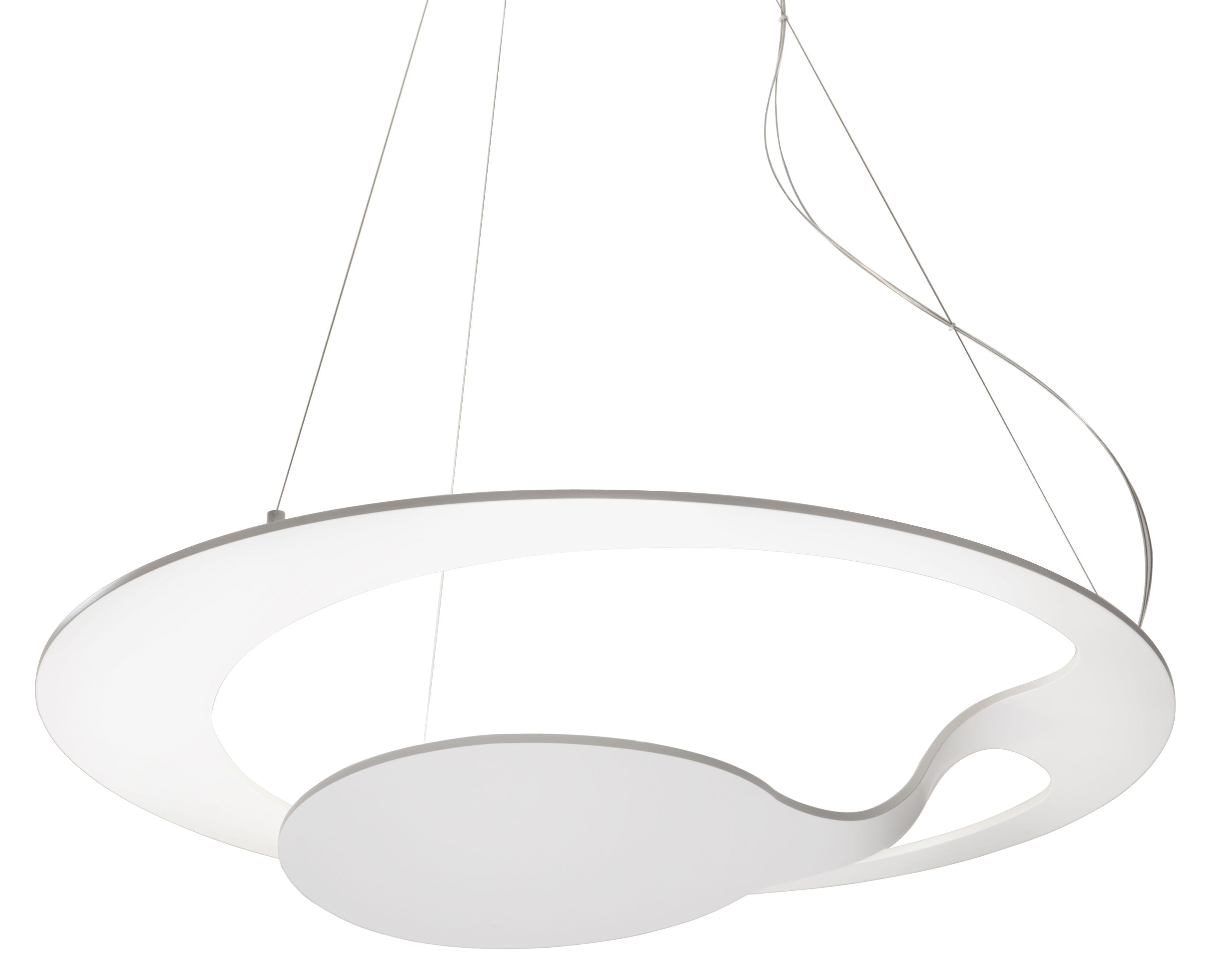Lighting - Pendant Lighting - Glu Pendant by Fabbian - White - Painted aluminium