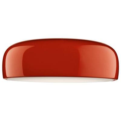 Luminaire - Plafonniers - Plafonnier Smithfield / Ø 60 cm - Aluminium - Flos - Rouge - Aluminium peint