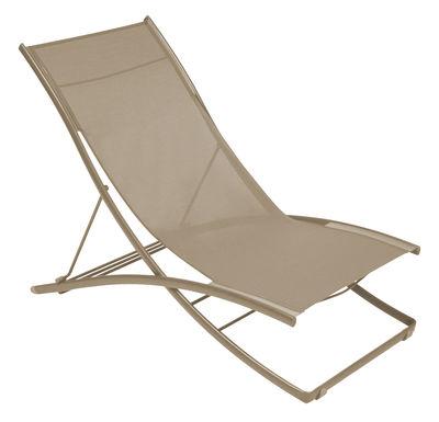 Outdoor - Sun Loungers & Hammocks - Plein Air Reclining chair - Foldable - 2 positions by Fermob - Flecked nutmeg - Cloth, Steel