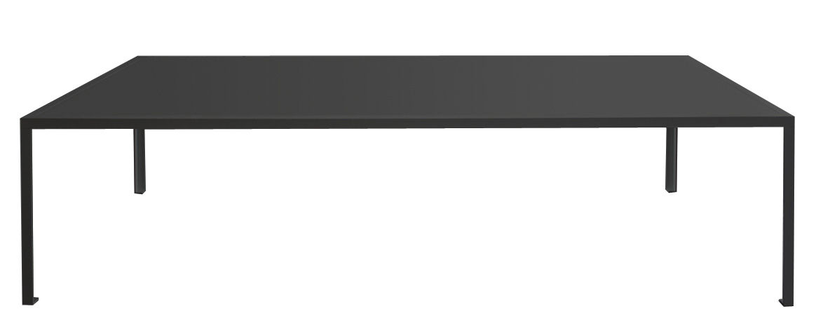 Furniture - Dining Tables - Tavolo Rectangular table - 280 x 120 cm / Linoleum top by Zeus - Black - Linoleum, Painted steel
