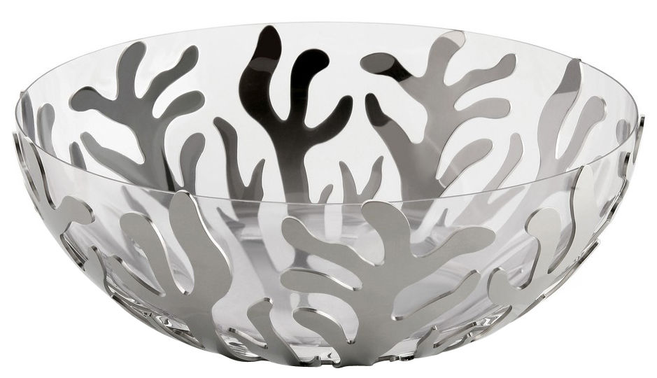 Tableware - Bowls - Mediterraneo Salad bowl by Alessi -  - Polished stainless steel, Thermoplastic resin