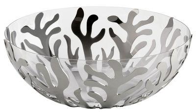 Saladier Mediterraneo /Bol transparent amovible - Ø 21 cm - Alessi métal brillant en métal