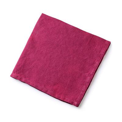 Arts de la table - Nappes, serviettes et sets - Serviette de table / 50 x 50 cm  - Lin traité TEFLON®anti-tache - Au Printemps Paris - Rouge - Lin